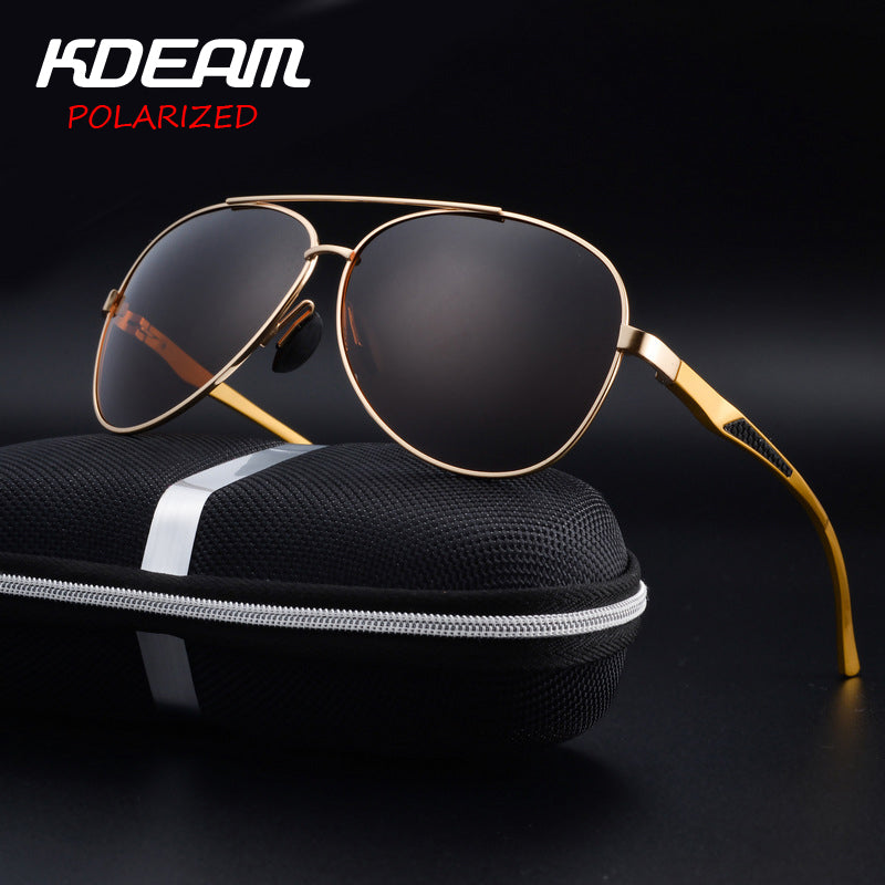 573607fd44b Eyewear High quality Men Sunglasses Pilot HD Polarized mirror lens Alloy  frame Women UV400