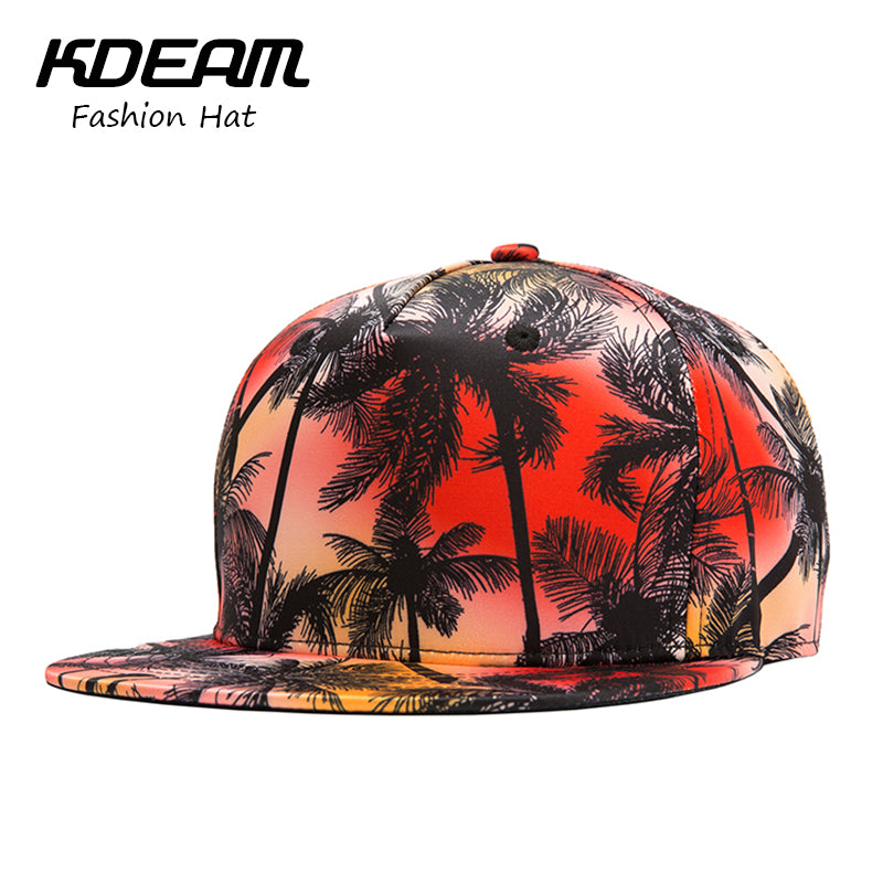 b99bc7a94a388 New hip-hop caps Summer Cap red Coconut tree design men's Beach Baseball Cap  boy