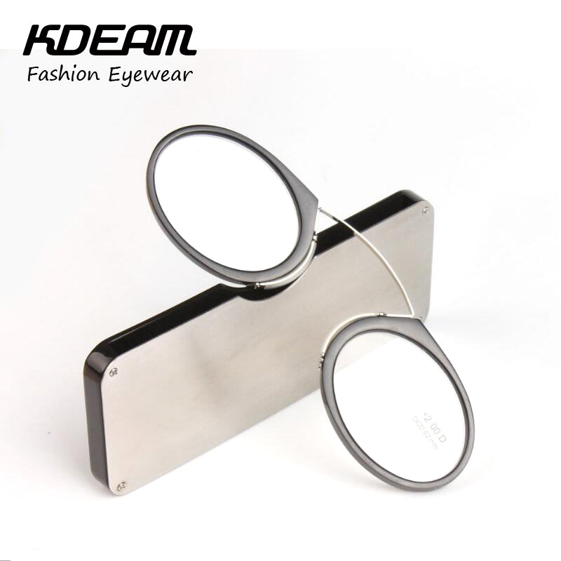 243d955151e Pinch nose Reading Glasses Luxury light Presbyopic eyewear Men With Case  Comfortable Power