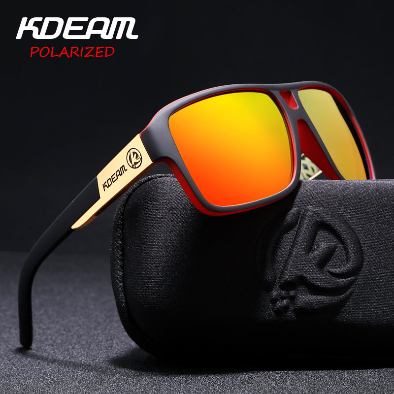 47d3a46f880b Polaroid Goggles Men Sport eyewear With Hard case Square Sunglasses women  Driving Polarized Glasses Outdoor