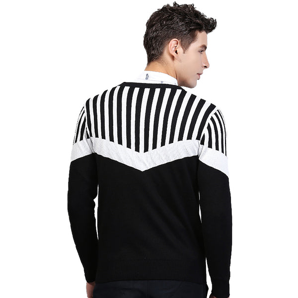 16743df24 Autumn Winter Pullover Sweater For Men Brand Clothing Jumpers Jacquard -  ThreadCreed
