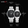 Brief Dial Lovers Couple Business Watches Men Women Stainless Steel Quartz  Waterproof Wristwatch
