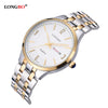 Casual Stainless Steel Couple Quartz Watches Lovers Wristwatch with Date Calendar and Waterproof