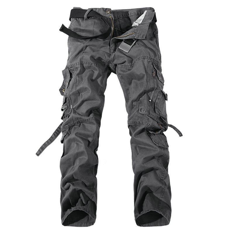 3c26867e Fashion Regular Cargo Pants Men Cotton Casual Slim Tactical Pants ...
