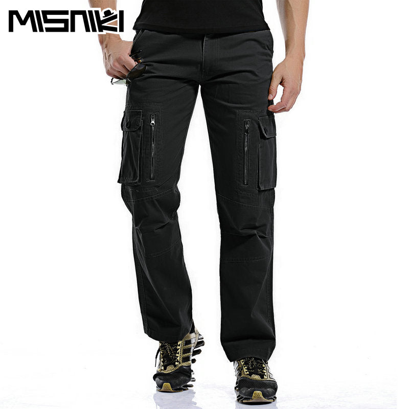 c6d74541 Regular Cargo Pants Men Cotton Casual Slim Multi-Pocket Tactical Pants For  Man Pantaloon Home