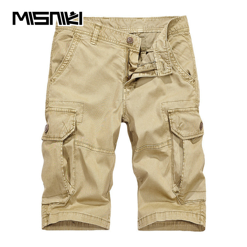 417071fc9a Summer New Fashion Tactical Cargo Shorts Men Casual Cotton Solid Multi-pocket  Men Shorts Workout