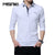 Spring New Long Sleeve T-Shirt Men Cotton Casual Solid Men Turn-down Collar