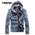 Autumn Winter Denim Jacket Men Hooded Casual Warm Men's Jean Jacket Coat