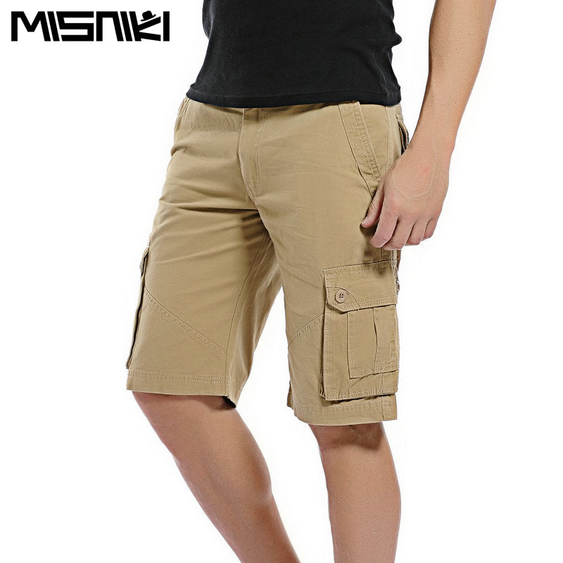 ce31d9e0d48 Summer Cargo Shorts Men Casual Cotton Shorts For Man - ThreadCreed