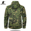Autumn Men's Military Camouflage Fleece Jacket Army Tactical Clothing Multicam Male Camouflage Windbreakers