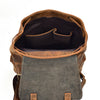 Vintage Thick real leather backpack