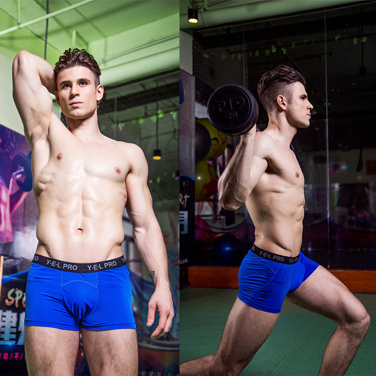 33421deeef Men Compression Shorts Base Layer Tight Boxers Boys Fitness Shorts Gyms  Cross fit Underwear male high