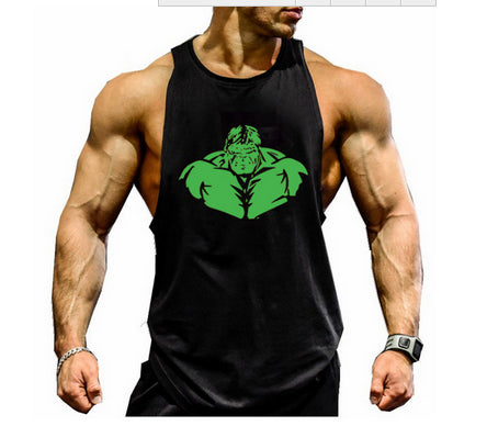 Bodybuilding Top Gym Stringer Workout Vest Singlet Men Fitness Hulk Yellow S Clothing, Shoes & Accessories