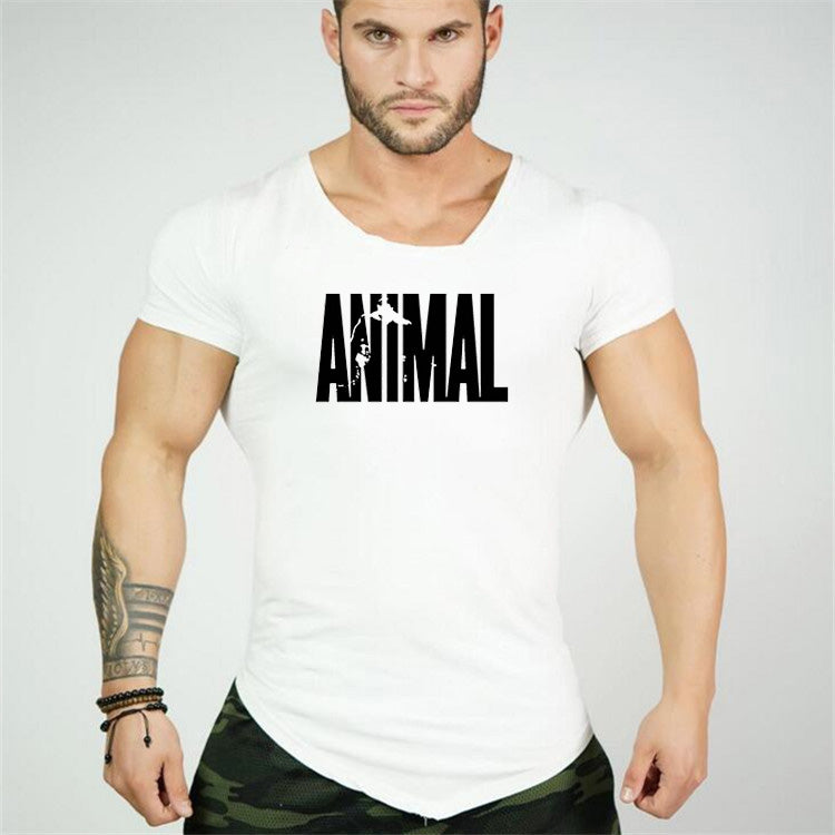 3a863279 Men T-Shirts Golds Animal gyms Brand Fitness Bodybuilding Workout Clothes  Man Cotton Sporting T