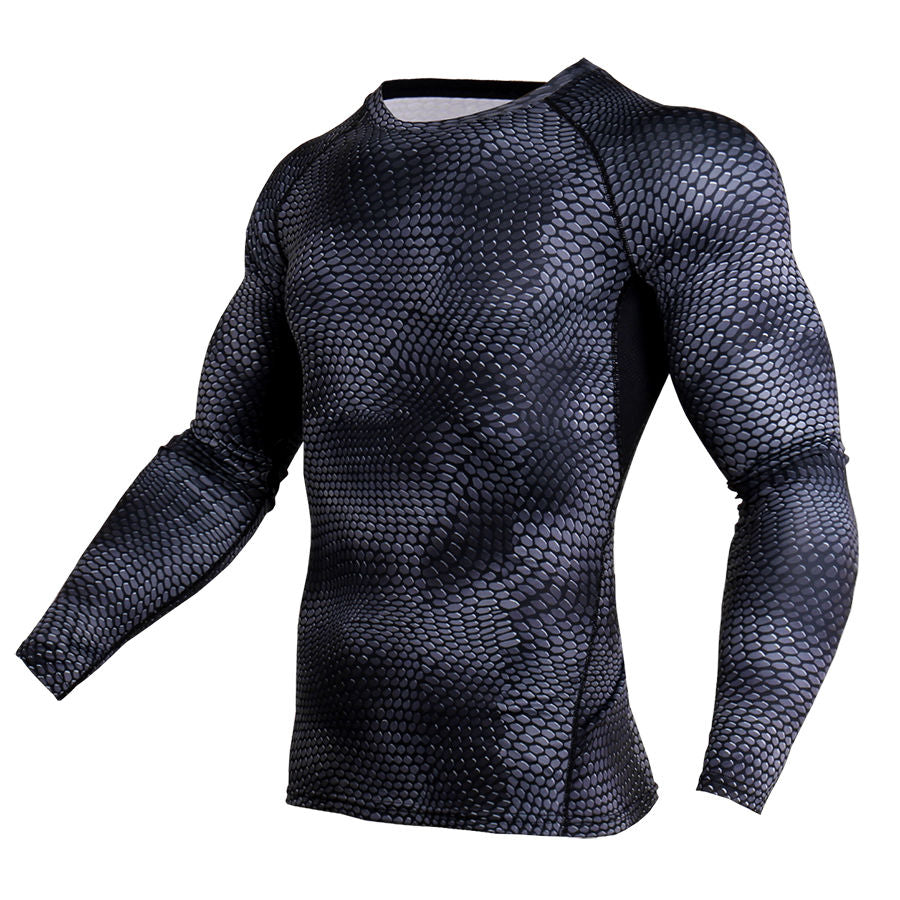 New 3d Printed T Shirts Men Compression Shirt Thermal Long Sleeve T