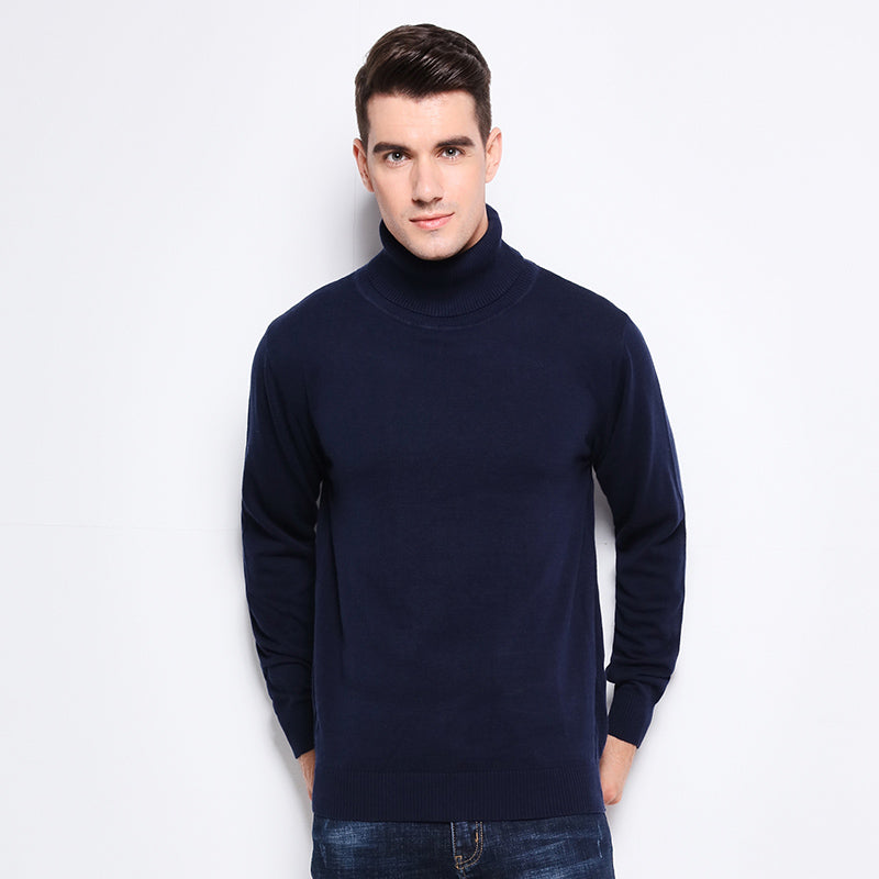 51a7a9911 Autumn Winter Clothing Men s Sweaters Warm Slim Fit Turtleneck Men ...