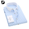 Autumn Slim Fit Men Turn Down Collar Shirt Men Print Casual Men Shirt