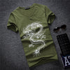 Casual Printed V Neck T Shirts For Men Short Sleeve Cotton Chemises