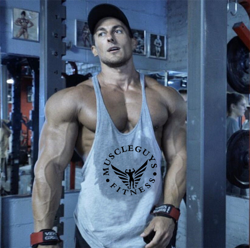 baade085afc977 New Gyms Clothing Fitness Men Bodybuilding stringer Tank Tops Fitness  Singlet Brand clothing Muscle Golds Sleeveless