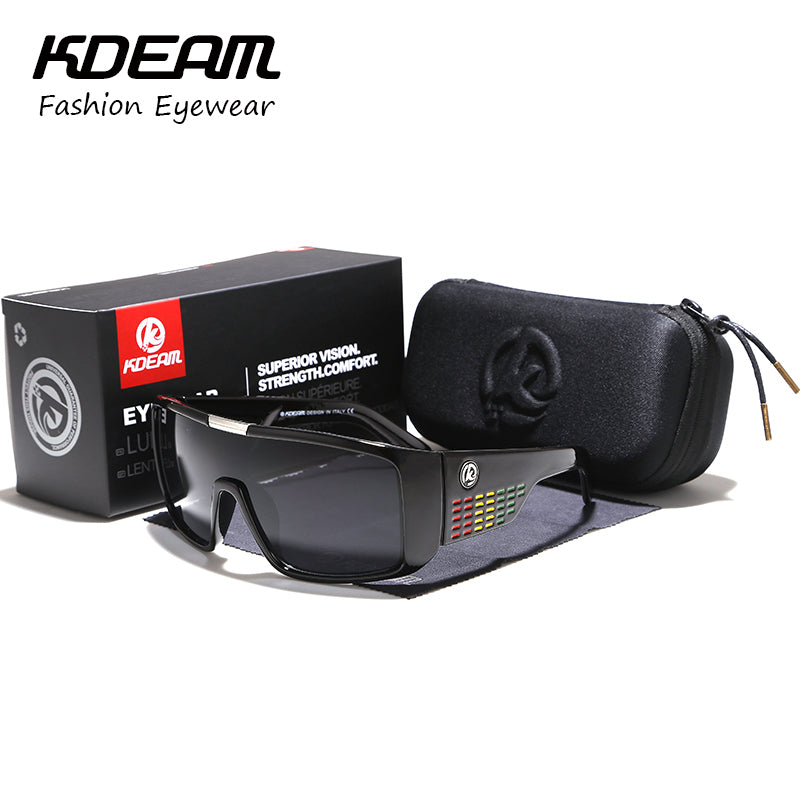 2ac4dc3ca5 New Oversize Men Sport Sunglasses Goggle Women Sun Glasses Windproof Shield Frame  UV400 protection With case