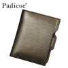 Business Card Holder Zipper Coin Purse Men's Split Cow Leather Wallet New Year's Gifts Male Fashion Money Pocket