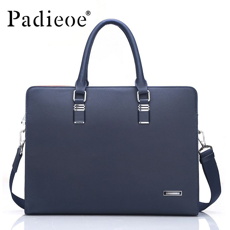 af6d5bc5 Genuine Leather Men Laptop Bag Briefcase Fashion Men's Business Bags Casual  Leather Messenger Bag for Men