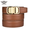 Black Brown Genuine Leather Belt Designer Belts Men Gold Automatic Buckle Men Belts Luxury