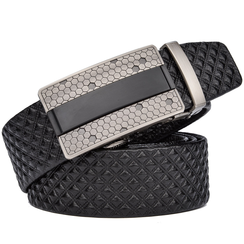 b442e500ebe32 Men Designer Belts Genuine Leather Belt Cowboy Men Luxury Belts Plaid  Casual Strap hombre