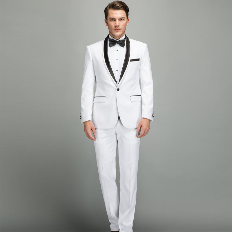 Suits For Wedding.White Suit Men New Spring Autumn Slim Fit Wedding Suits For Men Quality Collar Prom Party Suits