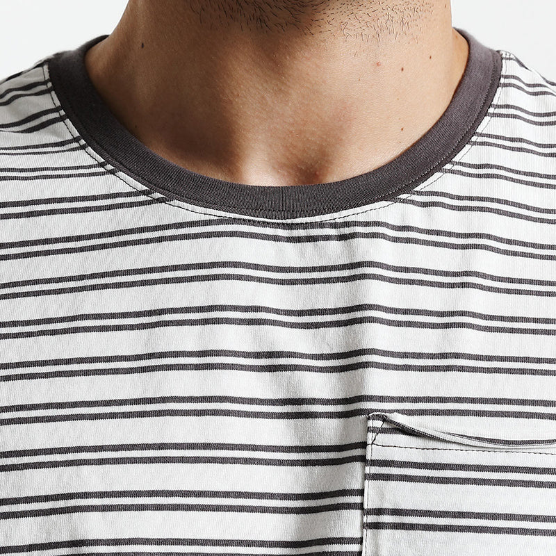 a51d945d1d3f4 Summer New Fashion T Shirt Men Striped Pure Cotton Slim Fit Breton Top  Clothing