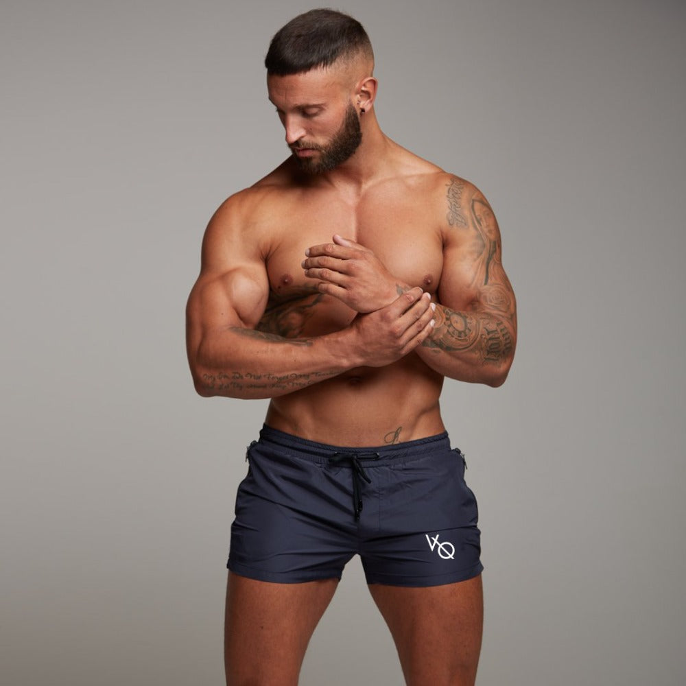Mens summer new fitness shorts Fashion leisure gyms Crossfit Bodybuilding