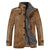 Slim Fit Stand Collar Leather Jacket Men Lining Coat