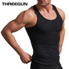 Cotton O-Neck Tank Tops Basic Men Bodybuilding Sleeveless Undershirt Fitness High Elastic Muscle Men Top 3 Color