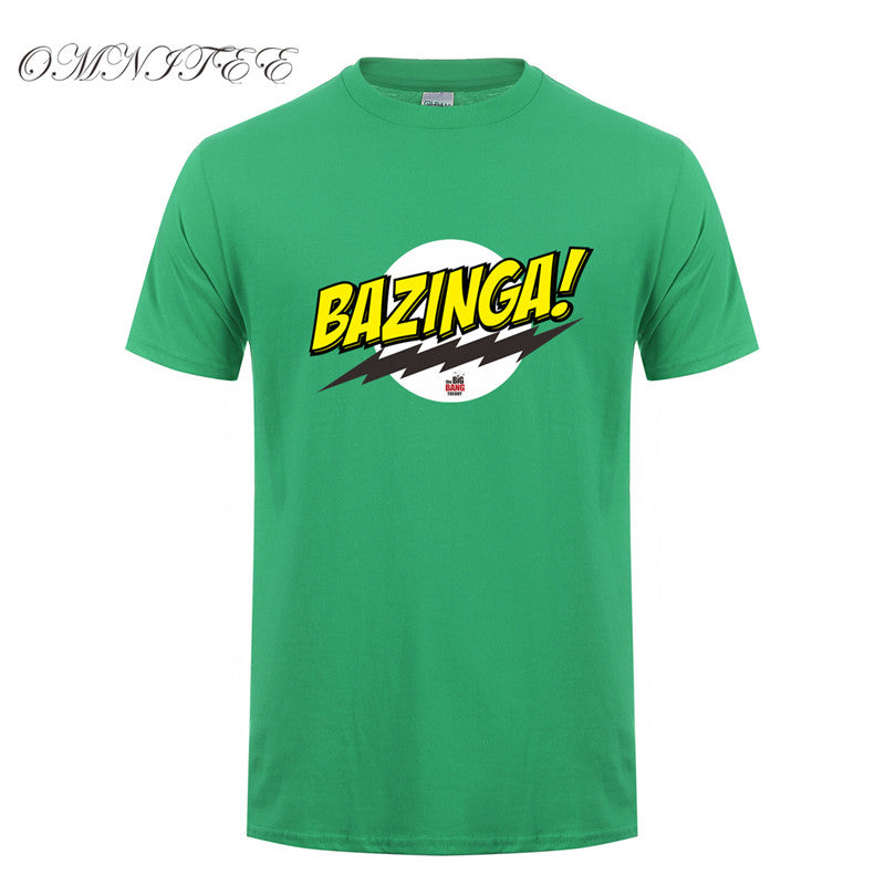df788b4c52 The Big Bang Theory T Shirt New Bazinga Sheldon Cooper Penny Cotton Short  Sleeve Men T