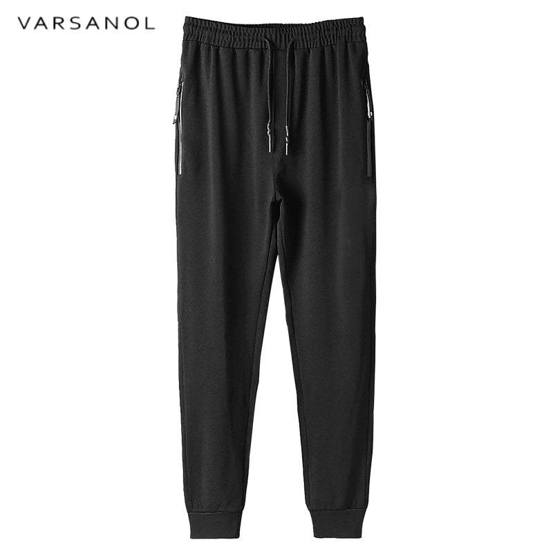 Men Soft Large Elastic Pant High Waist Trousers Winter Solid Joggers