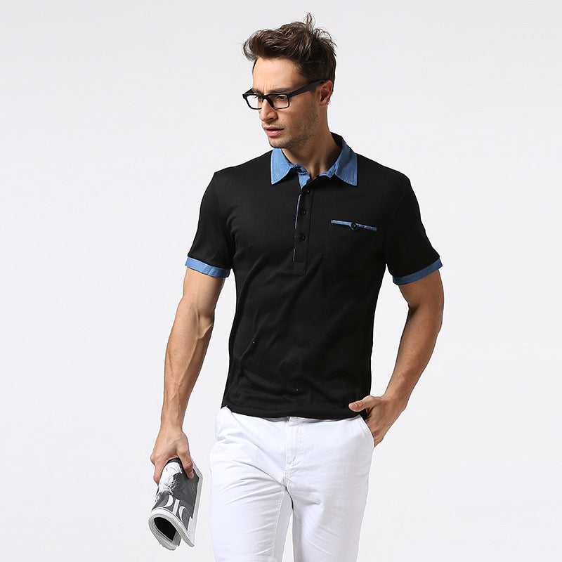 3b3e390a50c Men Summer Breathable Business Casual Men Short Sleeve Solid Cotton Polo  Shirts Clothing