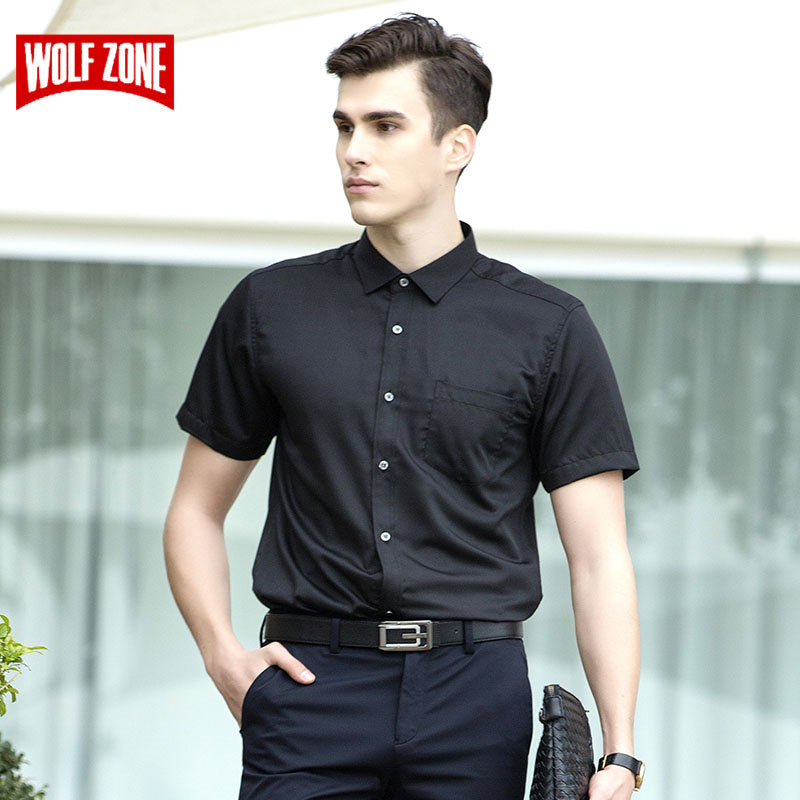 f79c5217c6b5 Business Short Sleeve Shirt Men Casual Dress Shirts Men Clothes Summer  Formal Work Shirts