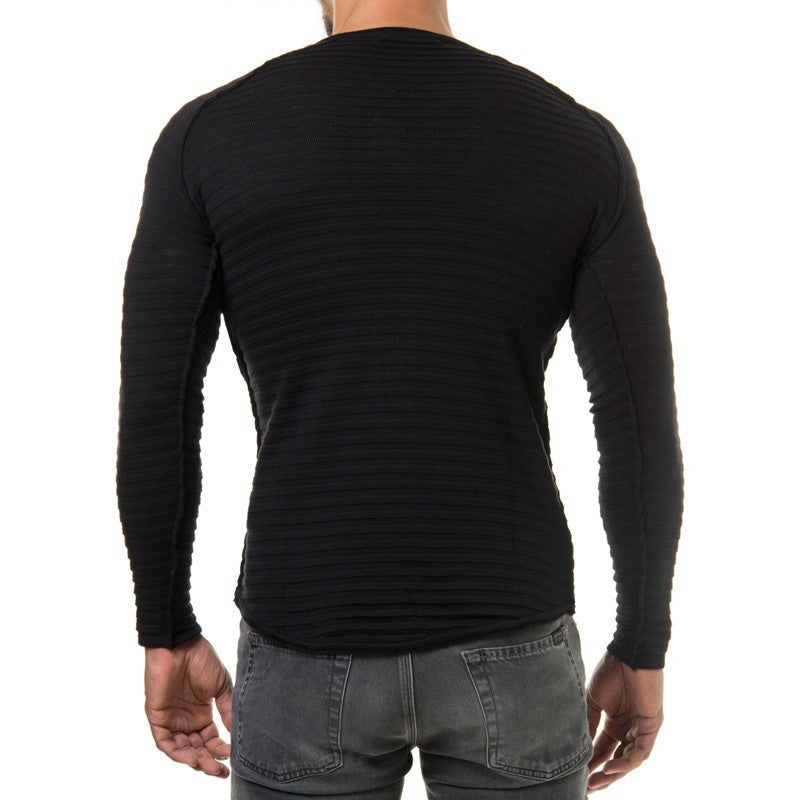 b7d1f0cc28a5b Winter Men Pullover Knitted Sweater O-neck Casual Long Sleeve Warm  Pullovers Male Sweaters Big