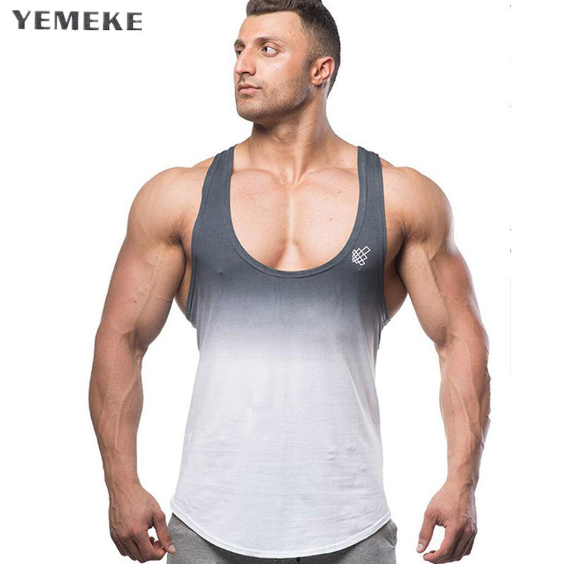 88cc787f089c17 Gyms tank tops Bodybuilding Clothing Fitness Men Cotton golds gyms Stringer  Sleeveless Shirts Muscle tank top