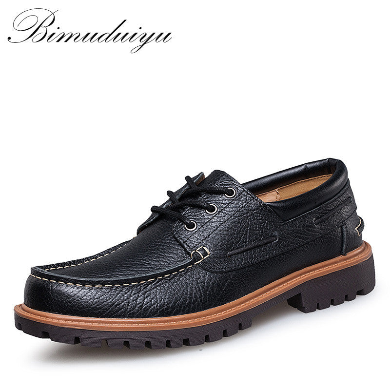 6b12a59862b Autumn Winter Comfortable Men Genuine Leather Casual Shoes Men Flats Shoes  Breathable Deodorant Male