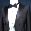 Custom Made Men 3 piece Suits With Pants For Wedding Groom Slim Fit Costume Home Men Black Party Tuxedo Tailcoat