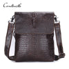Genuine Leather Men Bags Cross body Bag Men Cow Leather Alligator Pattern Men's Messenger Bags Causal Shoulder Bag