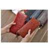 New Fashion Genuine Leather Clutch Bags Long Embossing Women Wallet Money Clips Female Big Purse