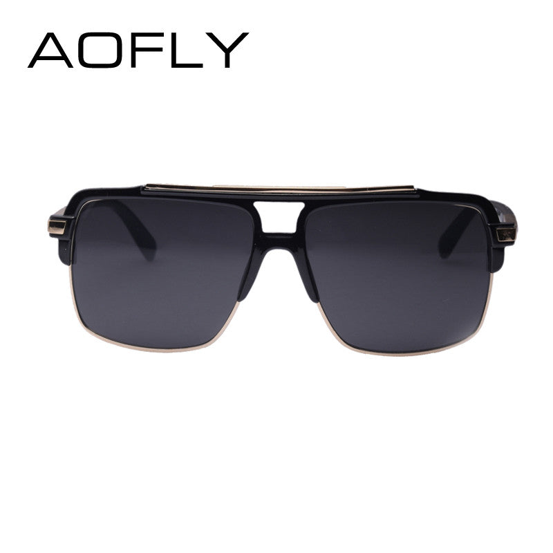 6a769fe473 Classic Half Metal Sunglasses Men Designer Cool Glasses mirror Fashion  Women s Sun glasses