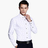 Long Sleeve Men Dress Shirt New Autumn Easy-Care Slim Fit Square Collar 70% Cotton Oxford Men Casual Business Striped Shirt