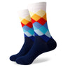 New Styles Men's colorful combed cotton socks wedding gift socks (6pairs/lot )