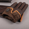 Winter Men's Genuine Leather Gloves New Touch Screen Gloves Fashion Warm Black Gloves Goatskin Mittens