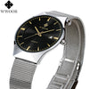 Men's Watches New luxury watch men Fashion sports quartz-watch stainless steel mesh strap ultra thin dial date clock