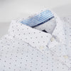 Autum New Men Polka Dot Oxford Shirt High Quality Slim Fit Men Blouse Casual Shirt Male