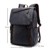 College Style Softback Zipper Leather Backpack